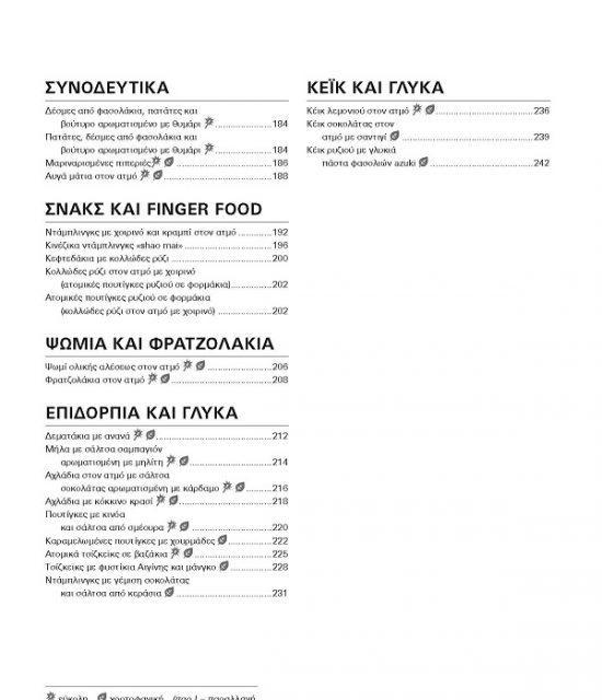 Γευστικά Γεύματα σε 4 επίπεδα - Περιεχόμενα